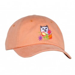 CASQUETTE RIPNDIP FLOWERS FOR BAE DAD HAT - ORANGE