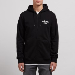 SWEAT VOLCOM SUPPLY STONE ZIP - BLACK