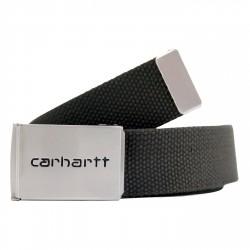 CEINTURE CARHARTT WIP CLIP BELT CHROME - BLACK