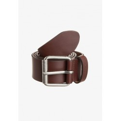 CEINTURE CARHARTT SCRIPT BELT - DARK BROWN SILVER