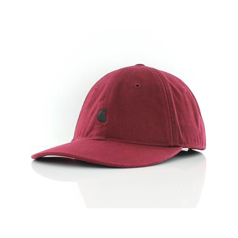 b12aec9be19 Casquette Carhartt Wip Madison Logo Cap - Mulberry Black