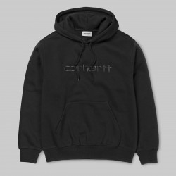 SWEAT CARHARTT WIP HOODED - BLACK
