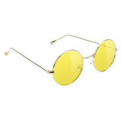 LUNETTES GLASSY MAYFAIR GOLD / YELLOW LENS