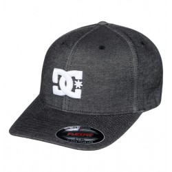 CASQUETTE DC SHOES FLEXFIT CAPSTARS TX - BLACK GREY