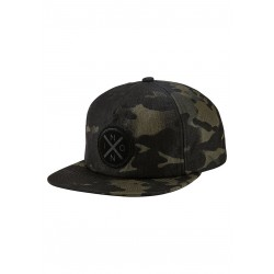 CASQUETTE NIXON BEACHSIDE SNAP BACK - BLACK MULTICAM