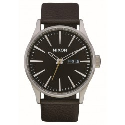 MONTRE NIXON SENTRY LEATHER - DARK CEDAR / DARK BROWN