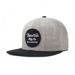 CASQUETTE BRIXTON WHEELER SNAPBACK - LIGHT HEATHER GREY / BLACK