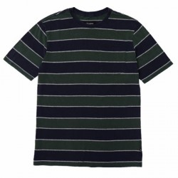T-SHIRT BRIXTON HILT WASHED POCKET - PINE/NAVY