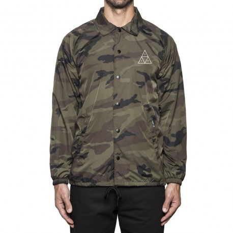 VESTE HUF ESSENTIALS TT COACHES - WOODLAND
