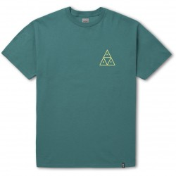 T-SHIRT HUF HIGH TIDE TRIANGLE S/S - TROPICAL GREEN
