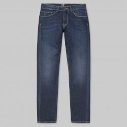 PANTALON CARHARTT WIP VICIOUS PANT - DEEP BLUE / COAST WACHED