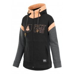 SWEAT PICTURE MAINA HOODY ZIP - BLACK