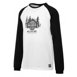 T-SHIRT PICTURE BUNGEE LS - WHITE