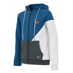 SWEAT PICTURE ORGANIC KIDS TOPEKA HOOD ZIP - PICTURE BLUE