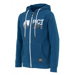 SWEAT PICTURE ORGANIC KID BASEMENT HOOD ZIP - PICTURE BLUE