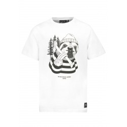 T-SHIRT PICTURE KIDS DUDE - WHITE