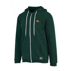SWEAT PICTURE ORGANIC TOAD HOOD ZIP - EMERALD