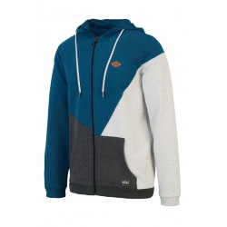 SWEAT PICTURE ORGANIC TOPEKA HOOD ZIP - PICTURE BLUE