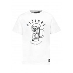 T-SHIRT PICTURE BEER - WHITE