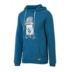 SWEAT PICTURE ORGANIC TANDORI HOOD - PICTURE BLUE