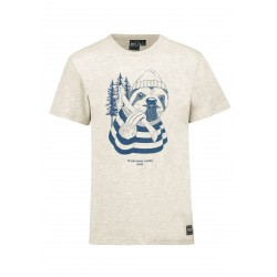 T-SHIRT PICTURE SLOTH - BEIGE