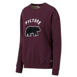 SWEAT PICTURE ORGANIC ANIMAL - PLUM
