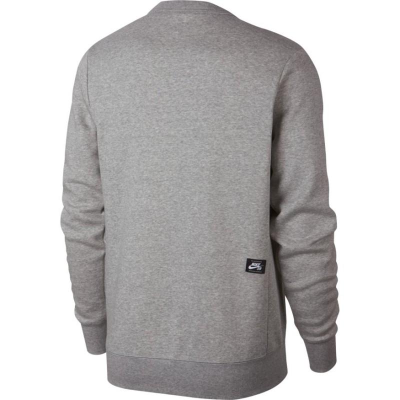 b913364d975e9 Sweat Nike Sb Icon Crew Fleece Essential - Dark Grey Heather