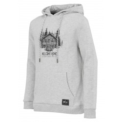 SWEAT PICTURE ORGANIC KIDS COLONY HOOD - GREY MELANGE