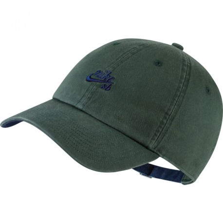 CASQUETTE NIKE HERITAGE 86 ICON - MIDNIGHT GREEN BLUE VOID