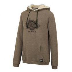 SWEAT PICTURE ORGANIC WOODY HOODY - CAMEL