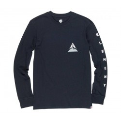 T SHIRT L/S ELEMENT DELTA - FLINT BLACK