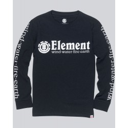 T-SHIRT ELEMENT KID HORIZONTAL LS - FLINT BLACK