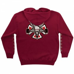 SWEAT INDEPENDENT X THRASHER PENTAGRAM CROSS - GARNET