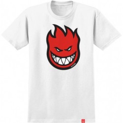 T-SHIRT SPITFIRE BIGHEAD FILL - WHITE/RED