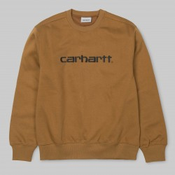 SWEAT CARHARTT - HAMILTON BROWN / BLACK