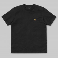 T-SHIRT CARHARTT WIP CHASE - BLACK / GOLD