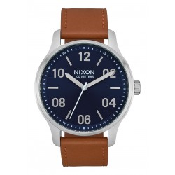 MONTRE NIXON PATROL LEATHER - NAVY / SADDLE