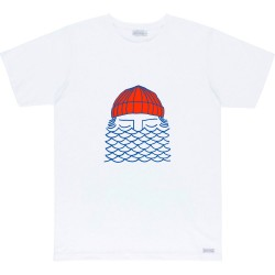 T-SHIRT BASK IN THE SUN TO THE SEA - WHITE
