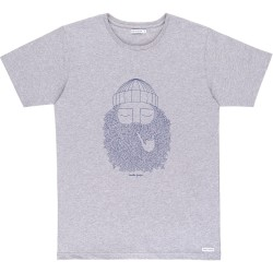 T-SHIRT BASK IN THE SUN SMOKING PIPE - GREY
