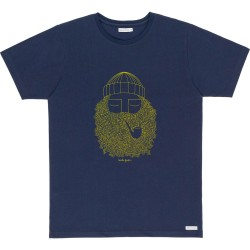 T-SHIRT BASK IN THE SUN SMOKING PIPE - NAVY