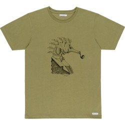 T-SHIRT BASK IN THE SUN HIPPOCAMPE - KAKI