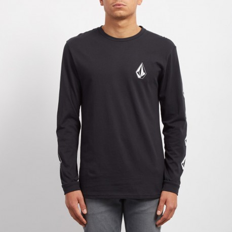T-SHIRT VOLCOM DEADLY STONE L/S - BLACK