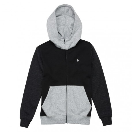 SWEAT VOLCOM SNGL STN CLRBLK ZIP - BLACK / GREY