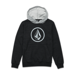SWEAT VOLCOM SINGLE STONE CAPUCHE KID - SULFUR BLACK
