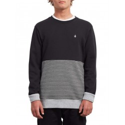 SWEAT VOLCOM THREEZY CREW KID - BLACK / GREY