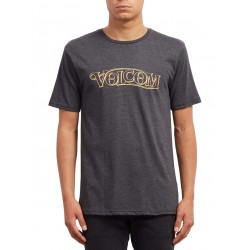 T -SHIRT VOLCOM EN ROUTE HTH - HEATHER BLACK