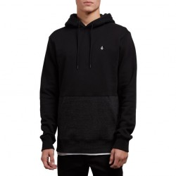 SWEAT VOLCOM SINGLE STONE DIV HOODIE - SULFUR BLACK