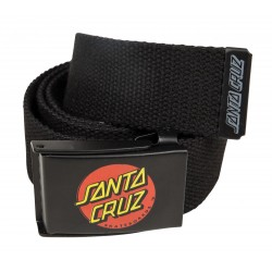 CEINTURE SANTA CRUZ CLASSIC DOT BELT - BLACK