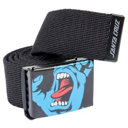 CEINTURE SANTA CRUZ SCREAMING HAND BELT - BLACK