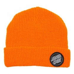 BONNET SANTA CRUZ OUTLINE DOT BEANIE - HAZARD ORANGE